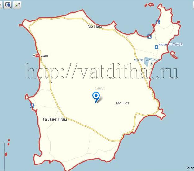карта острова Самуй Тайланд