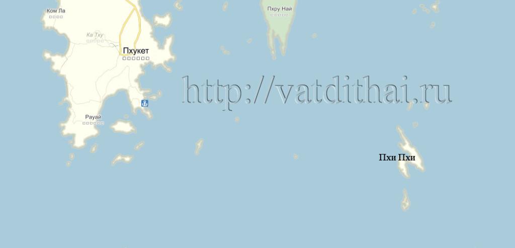 остров пхи пхи на карте