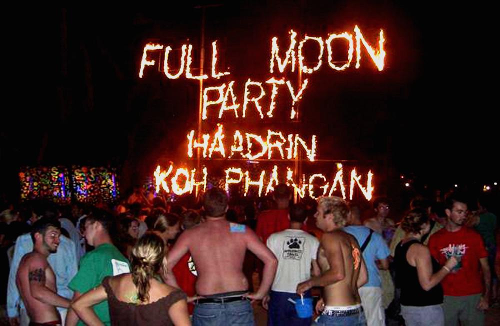 остров Панган вечеринка полной луны