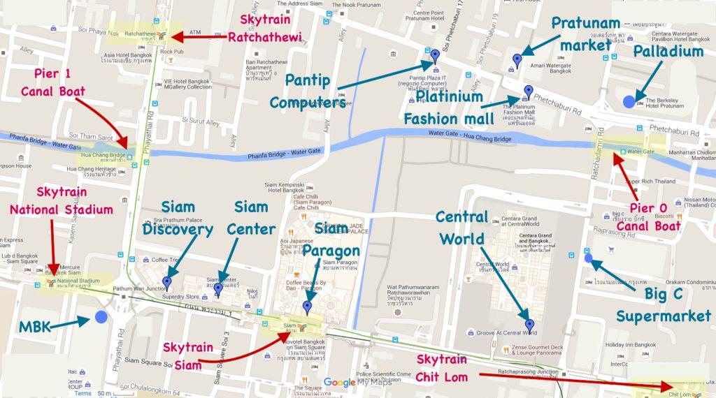торговые центры Бангкока